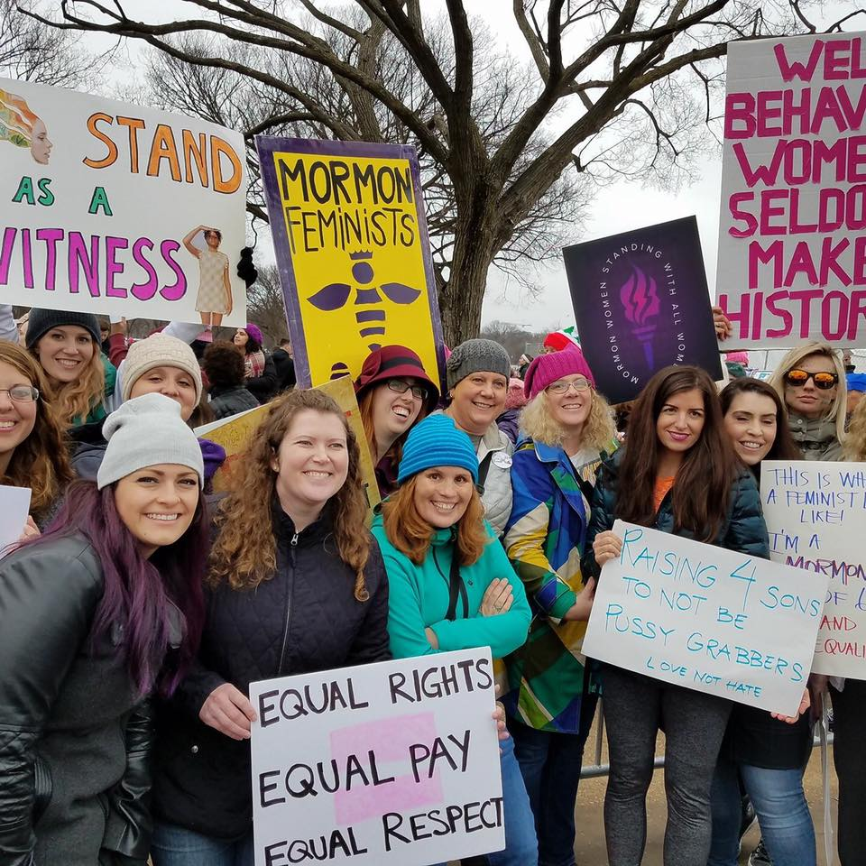 JI editor Andrea Radke-Moss (in the knitted pink hat) and friends at the Women's March, Washington DC, January 21, 2017